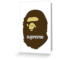 Bape x Supreme Greeting Card