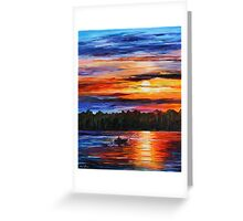 Fishing by the Sunset Greeting Card