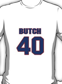 National football player Butch Woolfolk jersey 40 T-Shirt
