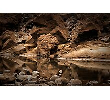 Iguazu - On the Rocks Photographic Print