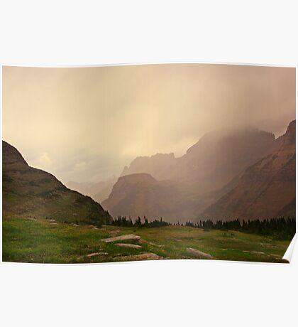 Cloudy Day at Logan Pass Poster