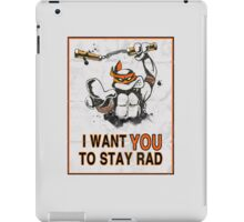 Stay Rad. iPad Case/Skin
