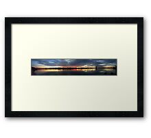 Swan River Sunset Full View Pano Framed Print