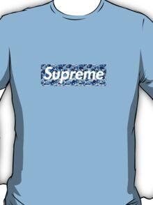Bape x Supreme Box Logo - Blue Camo T-Shirt