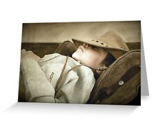 Sleeping cowboy... Free State, South Africa Greeting Card