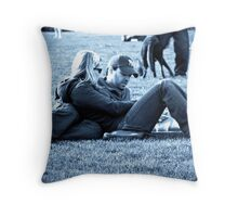 Moment in Blue Throw Pillow