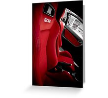 recaro seats Greeting Card