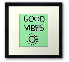 ☀Good Vibes☾ Framed Print