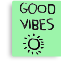 ☀Good Vibes☾ Canvas Print