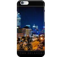 Downtown Oklahoma City - Black Border iPhone Case/Skin