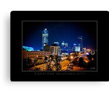 Downtown Oklahoma City - Black Border Canvas Print