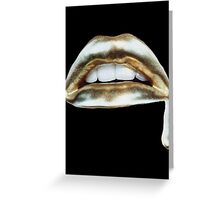 GOLD LIPS Greeting Card