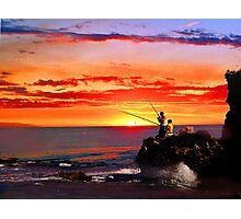 Sunset fishermen Photographic Print