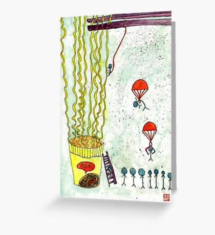 The Mission of Instant Noodles Greeting Card