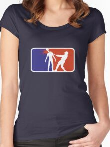 Major League Zombie  Women's Fitted Scoop T-Shirt