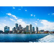 Boston Harbor Skyline Photographic Print