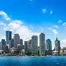 Boston Harbor Skyline by Jim Felder