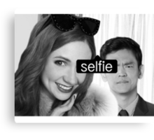 tagged selfie Canvas Print