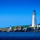 Boston Light - Boston Harbor by Jim Felder