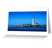 Boston Light - Boston Harbor Greeting Card