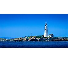 Boston Light - Boston Harbor Photographic Print