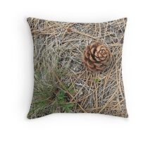 needle & cone Throw Pillow