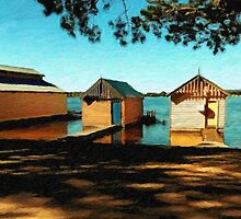 Views from the Lake II - Boathouses by Chris Armytage™