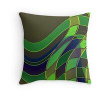 Dancing Green Throw Pillow