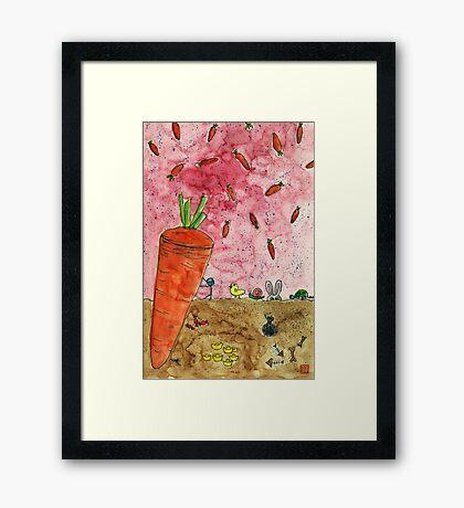 Everyone Love Carrot Framed Print