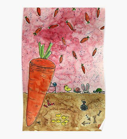 Everyone Love Carrot Poster