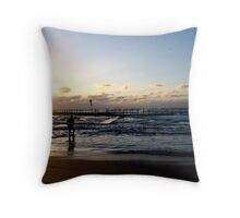 Early Swim at Mona Vale Throw Pillow