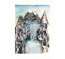 An alpine scene Art Print