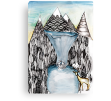 An alpine scene Canvas Print