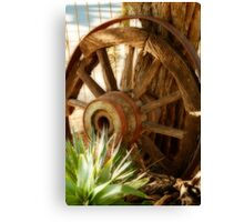 """Old Wagon Wheel""  (South Africa) Canvas Print"