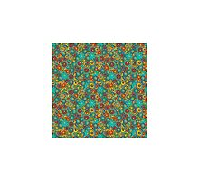 Funny doodle pattern with colorful ornament made of circles by kira-culufin