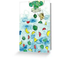Why Watermelon Drop from Bottle? Greeting Card