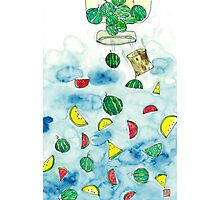 Why Watermelon Drop from Bottle? Photographic Print