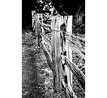 Old wooden fence Photographic Print