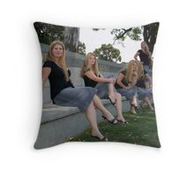 Beside Herself Throw Pillow