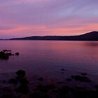 Sunset over Maria Island by Michael Cebon