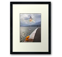 sanya. the arrival in Lisbon Framed Print