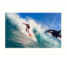 Corky's surfing Art Print