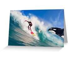 Corky's surfing Greeting Card