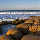Bay of Fires Smoulders at Sunset by Michael Cebon