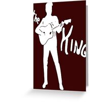 the king of rock on dark Greeting Card