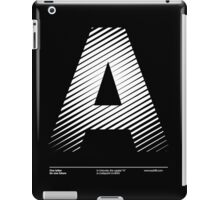 The letter A iPad Case/Skin