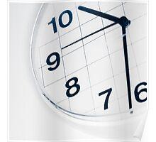 Analog wall clock Poster