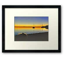 Lake Macquarie Sunrise Framed Print