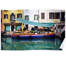 Venice Produce Boat Poster