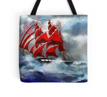 Clipper Ship Indian Queen in Rough Seas - all products bar duvet Tote Bag